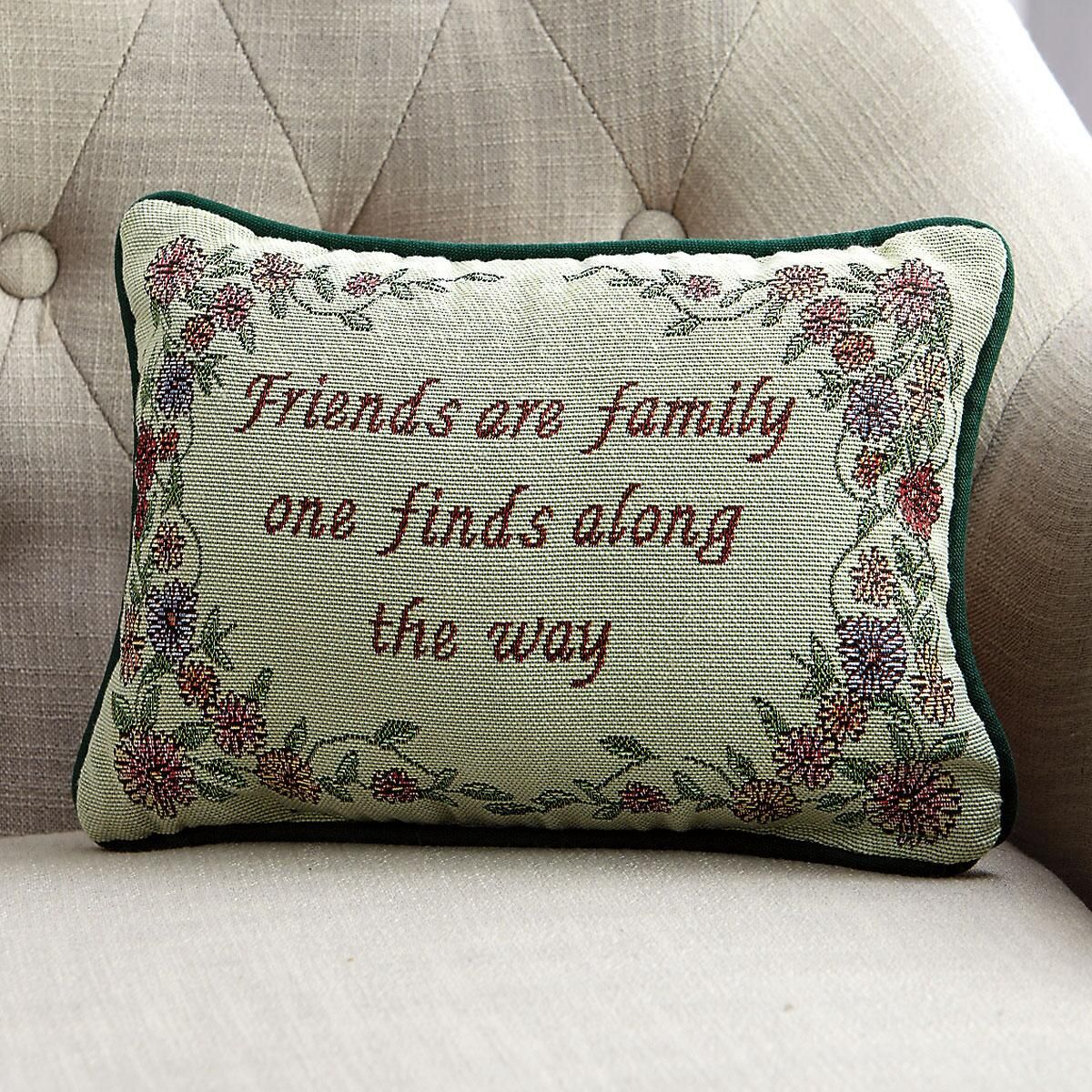 Friends Are Family Decorative Pillow