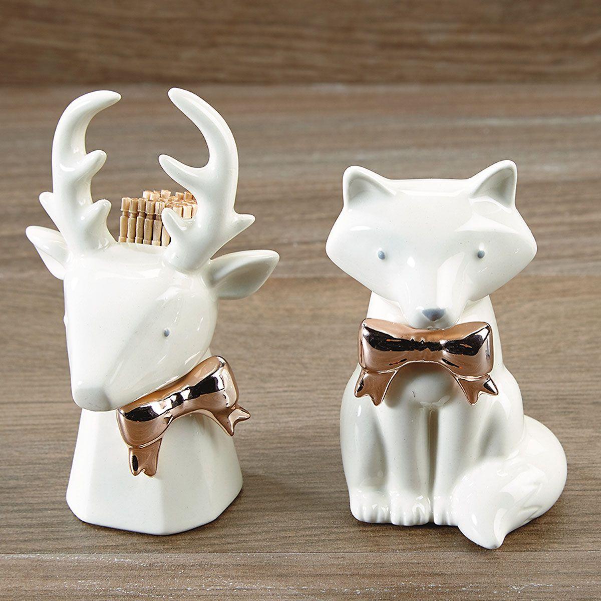 Deer or Fox Toothpick Holder