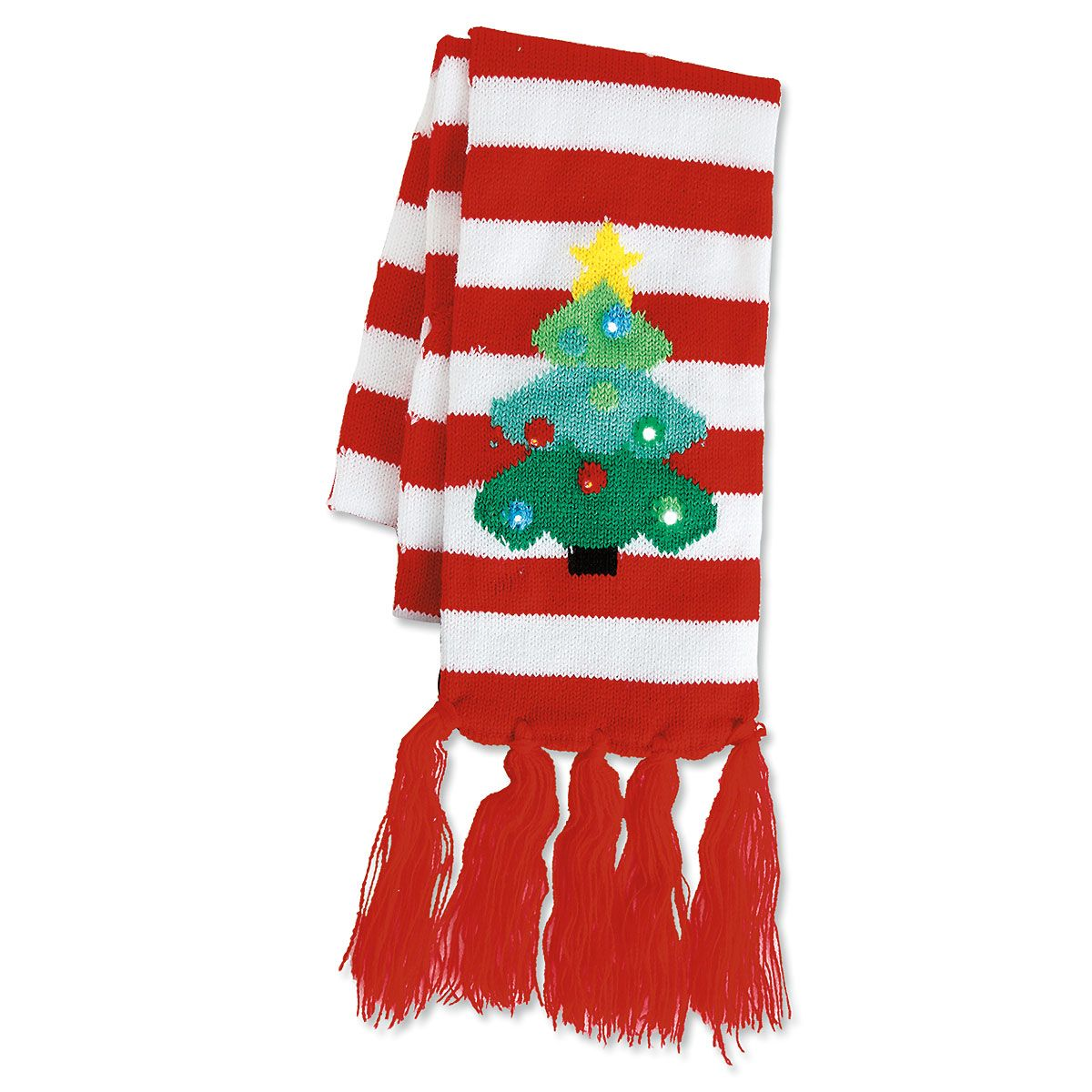 Christmas Tree Scarf Lighted