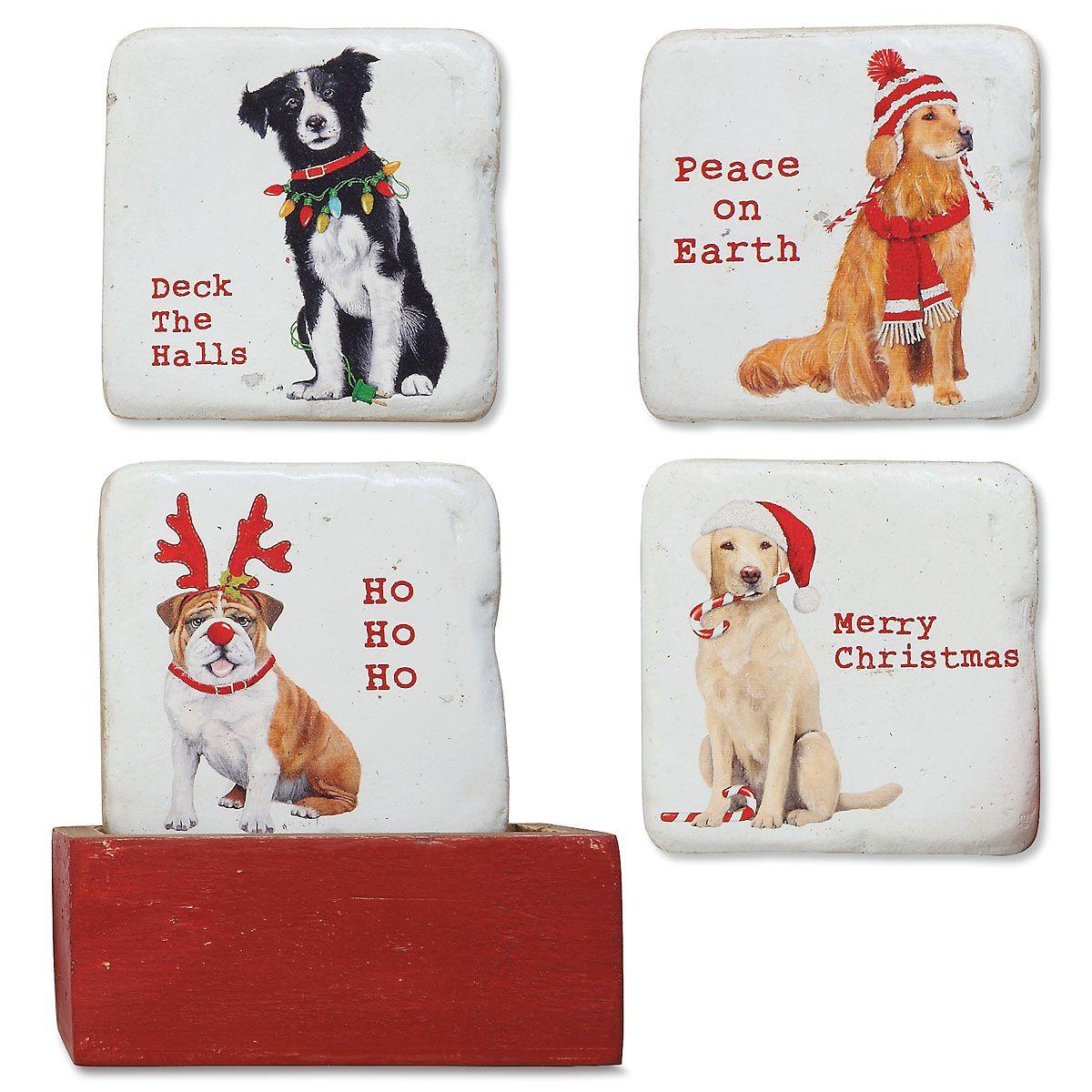 Winter Dog Coasters