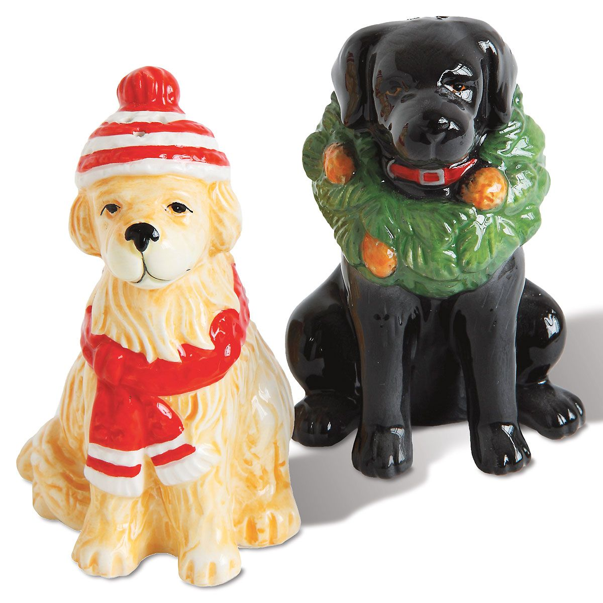 Winter Dogs Salt & Pepper Shaker Set