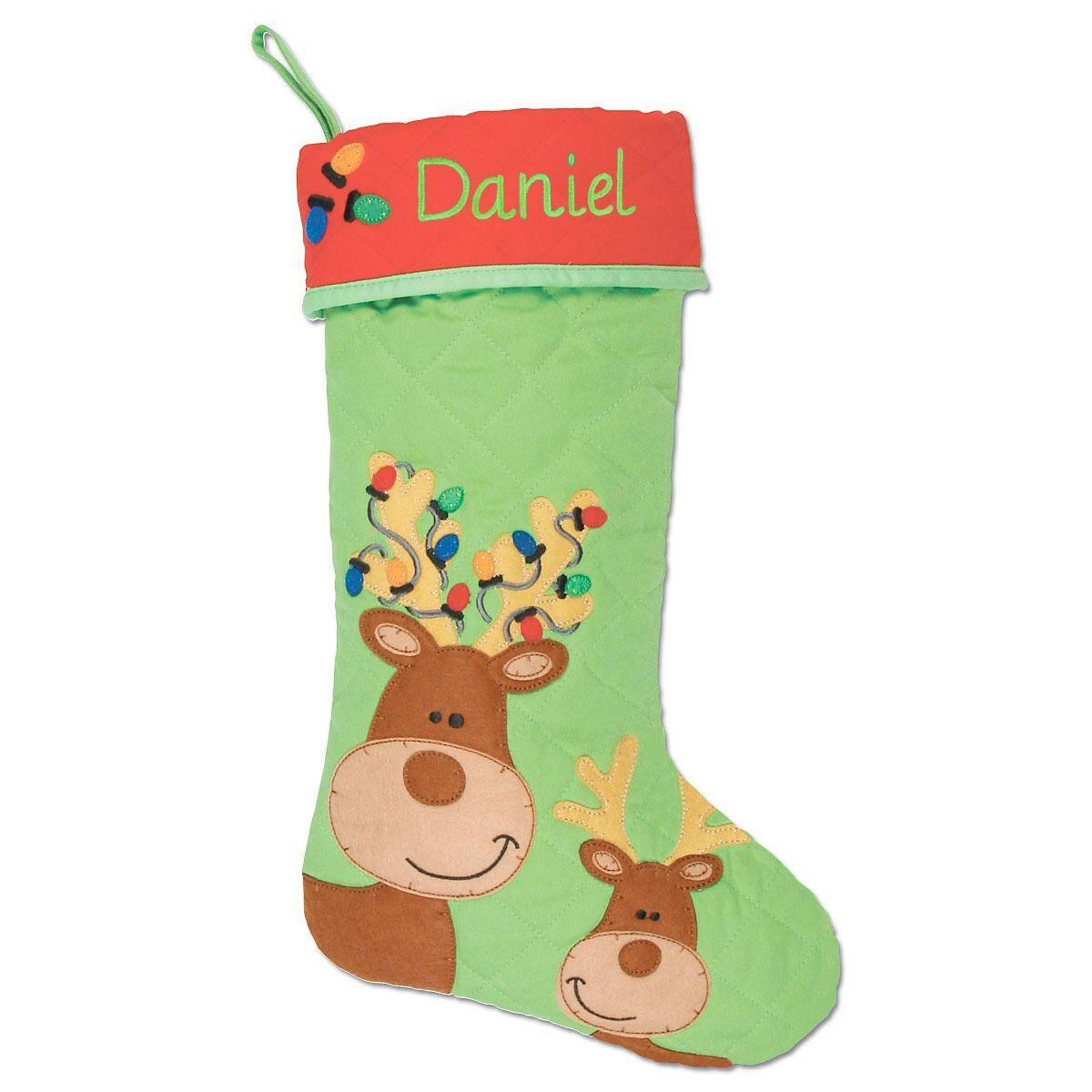 Custom Reindeer Christmas Stocking by Stephen Joseph®