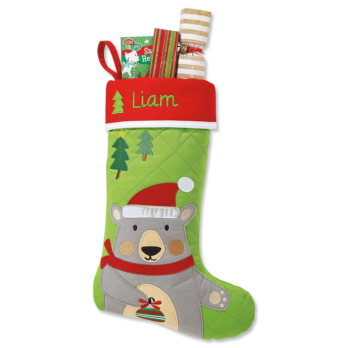 Christmas Bear Custom Stocking by Stephen Joseph®
