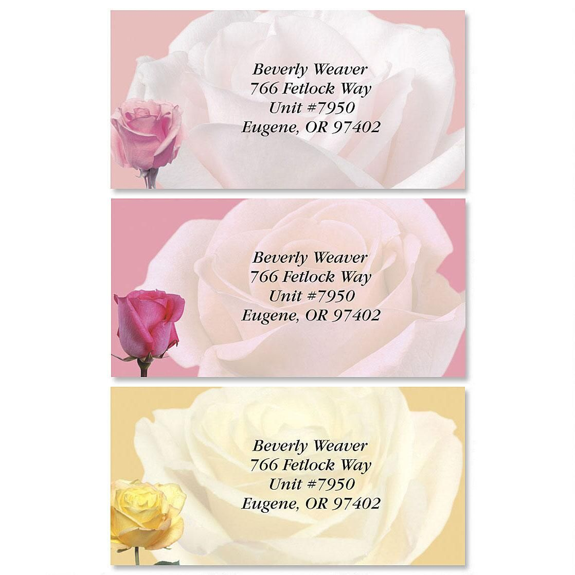 Gypsy Rose Border Return Address Labels  (3 Designs)