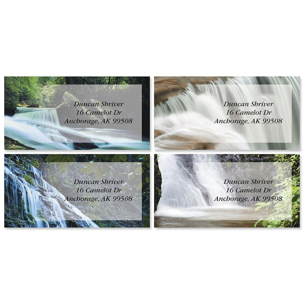 Waterfalls Border Address Labels  (4 Designs)