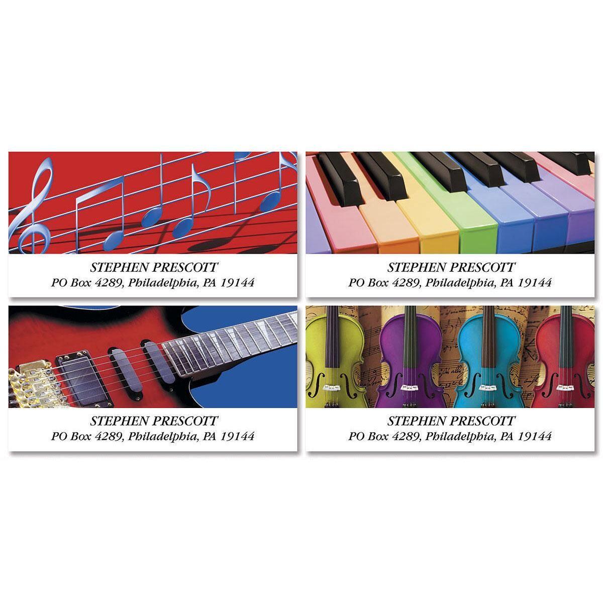 Instrumental Deluxe Return Address Labels  (4 Designs)