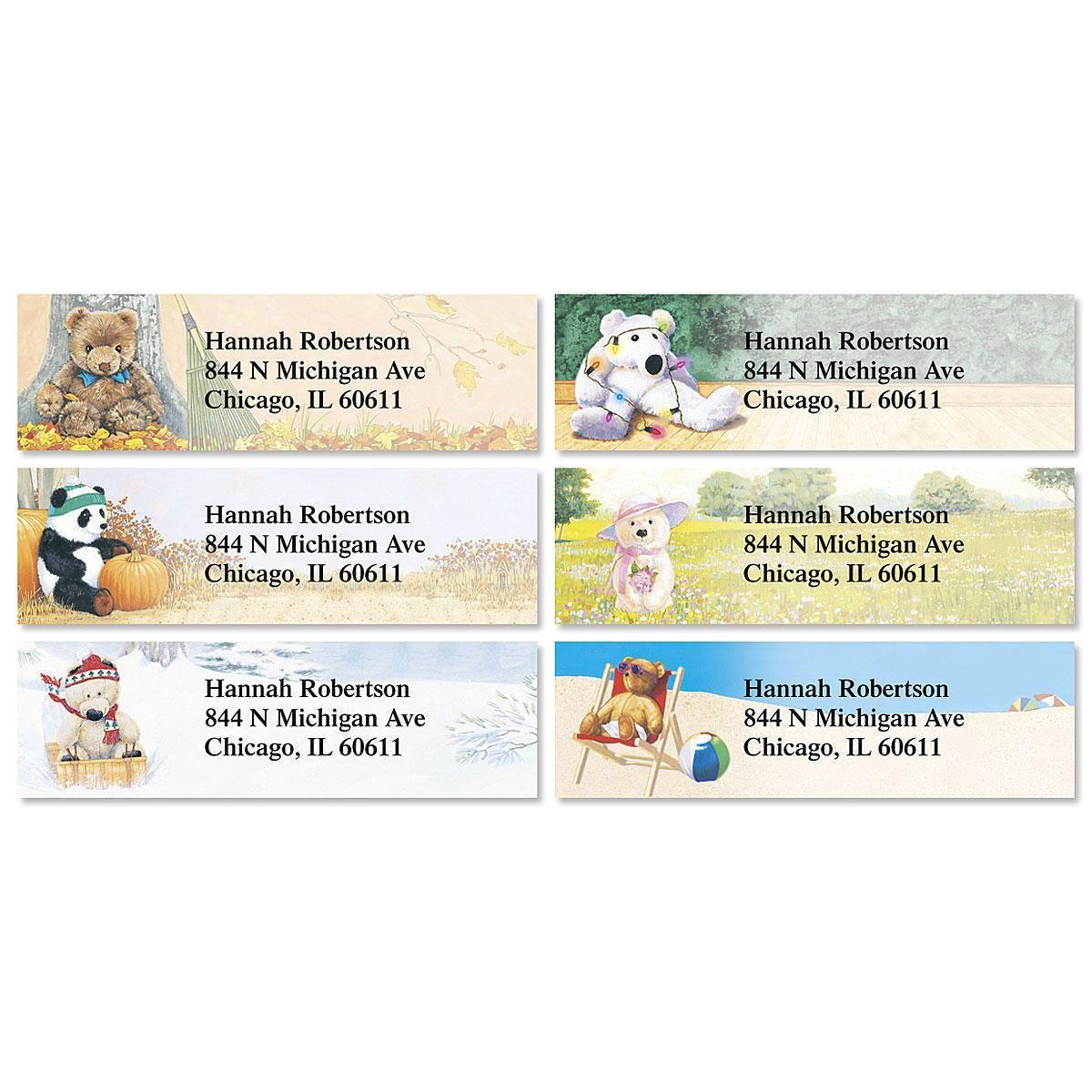 Teddy Bear Magic Classic Address Labels  (6 Designs)