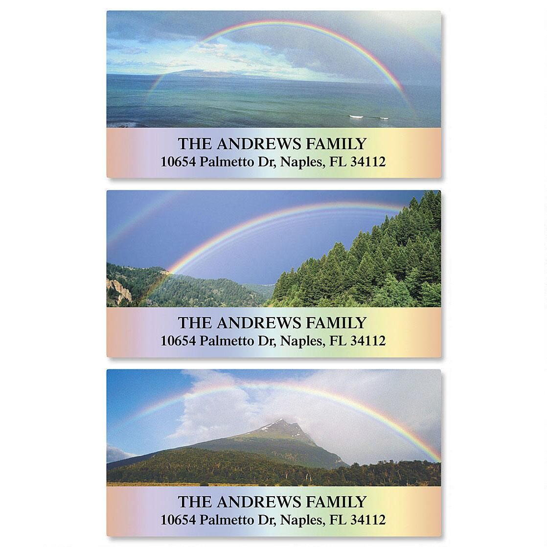 Beautiful Rainbows Deluxe Return Address Labels  (3 Designs)