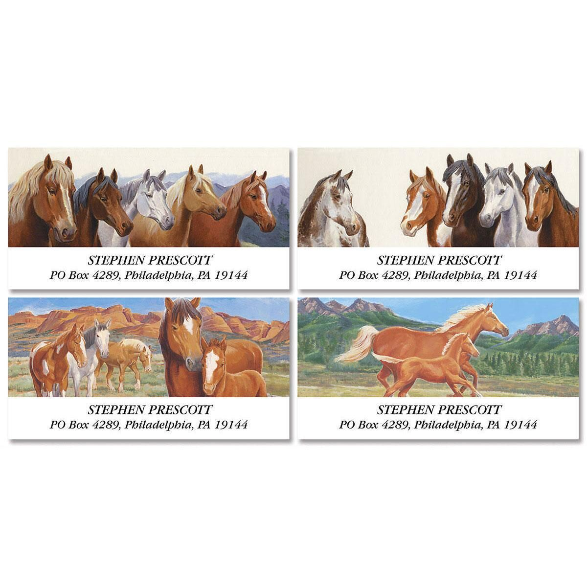 I Like Horses  Deluxe Return Address Labels  (4 Designs)