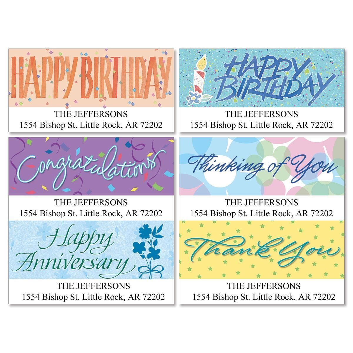 Special Occasions Deluxe Return Address Labels  (6 Designs)