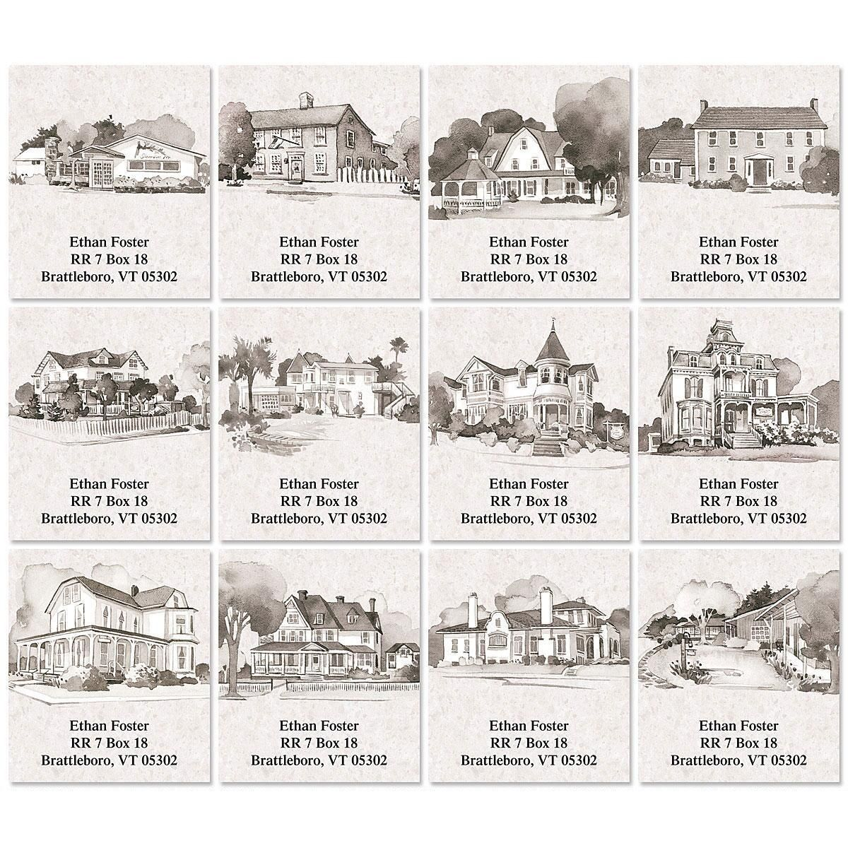 Classic Homes Select Address Labels  (12 Designs)