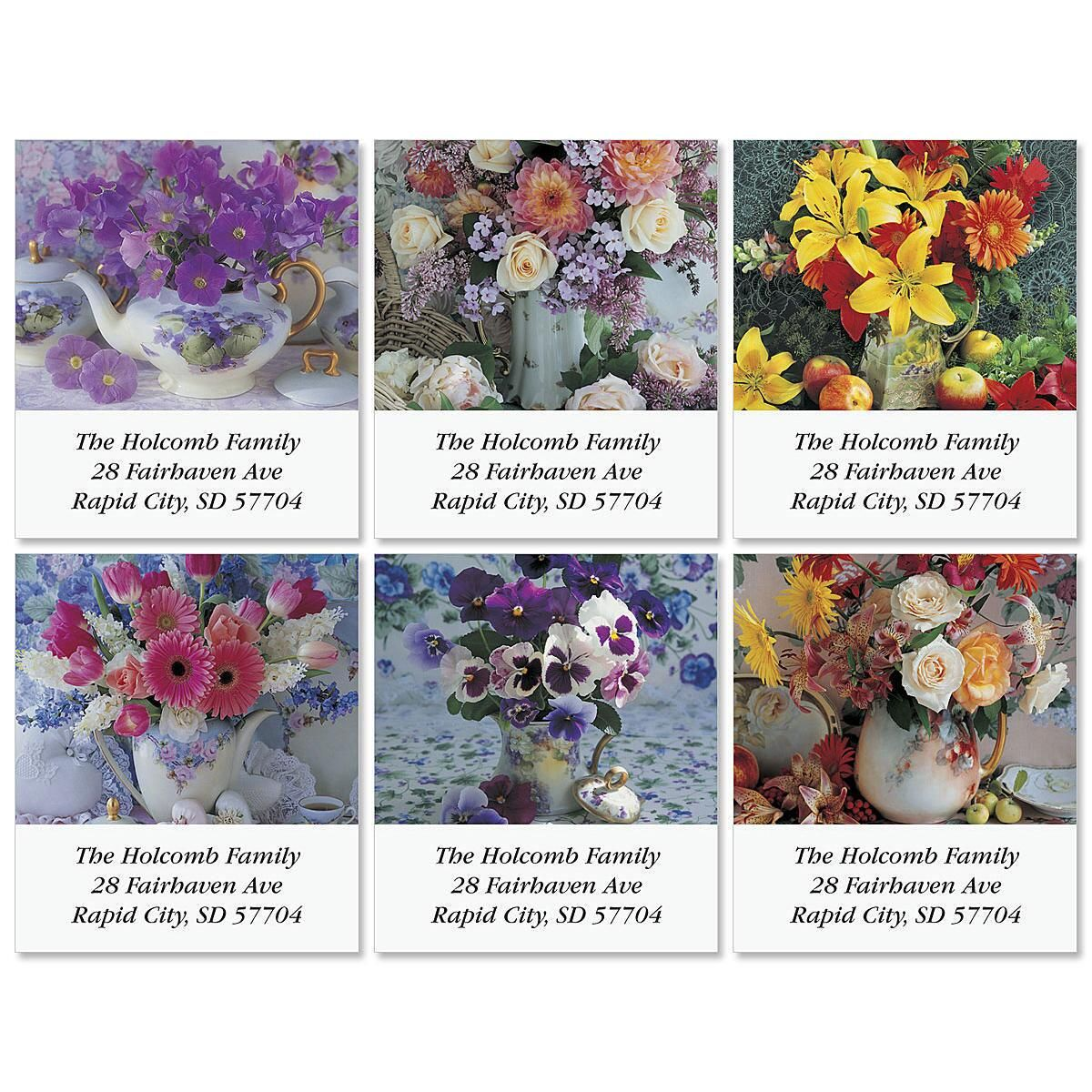 Floral Charms Select Address Labels  (6 Designs)