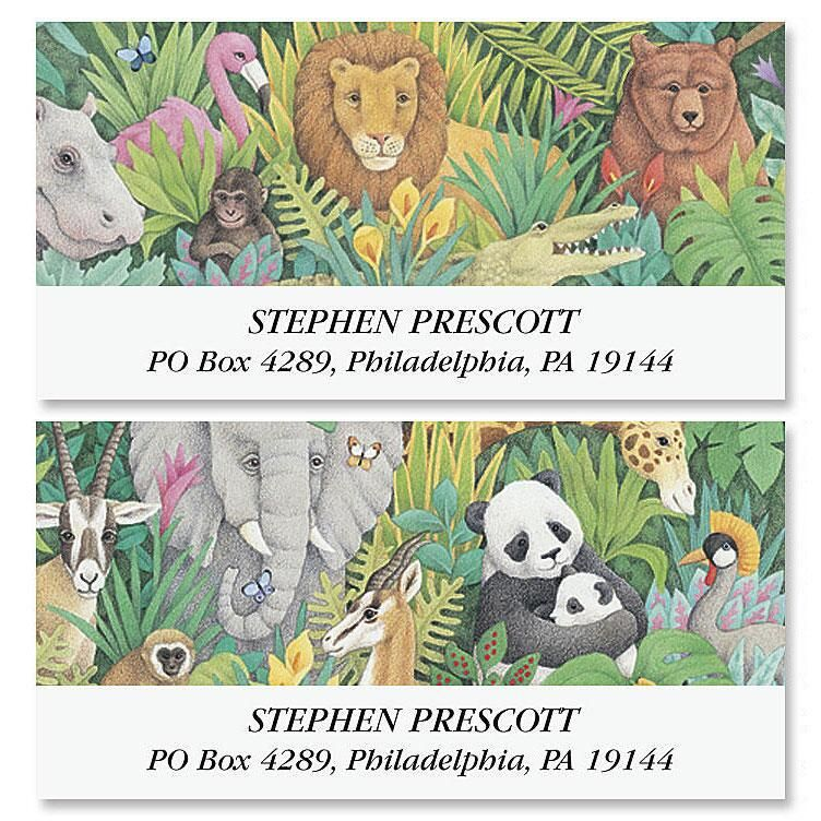Wild Deluxe Address Labels  (2 Designs)