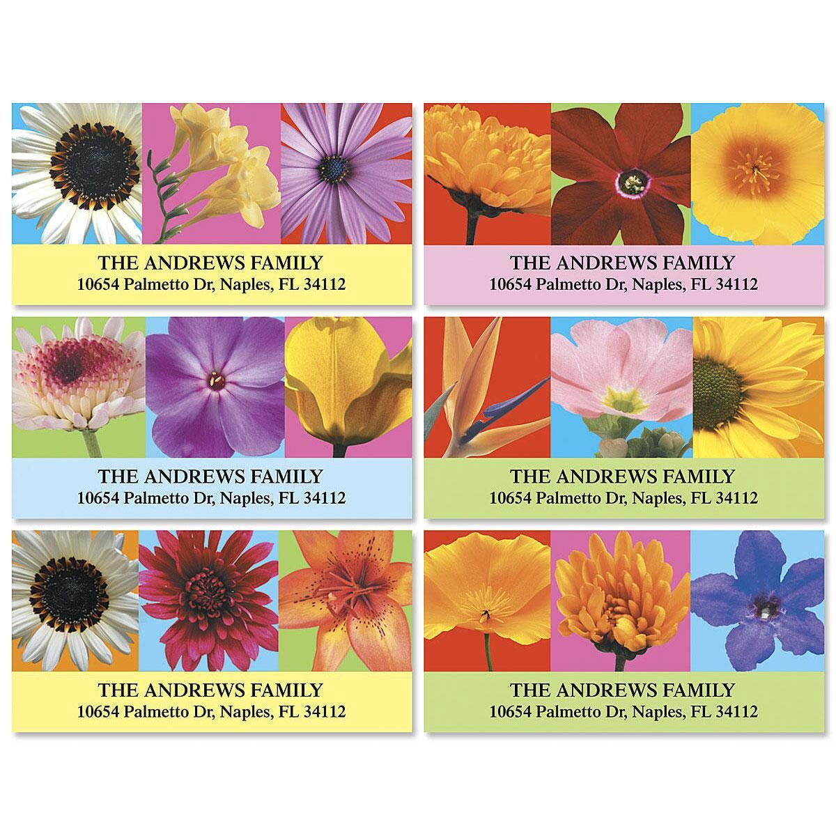 Floral Beauty Deluxe Address Labels  (6 Designs)