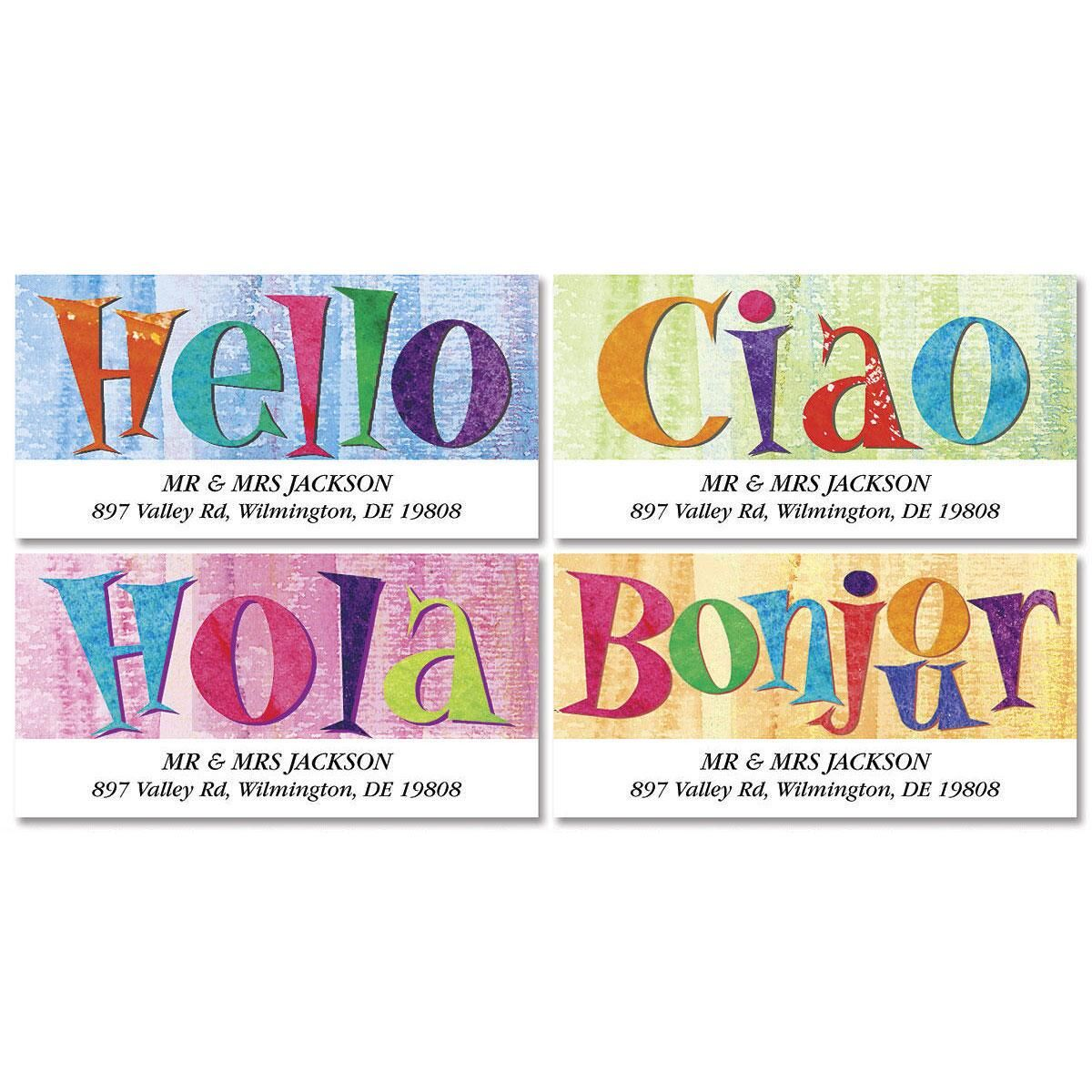 Hello Deluxe Return Address Labels  (4 Designs)