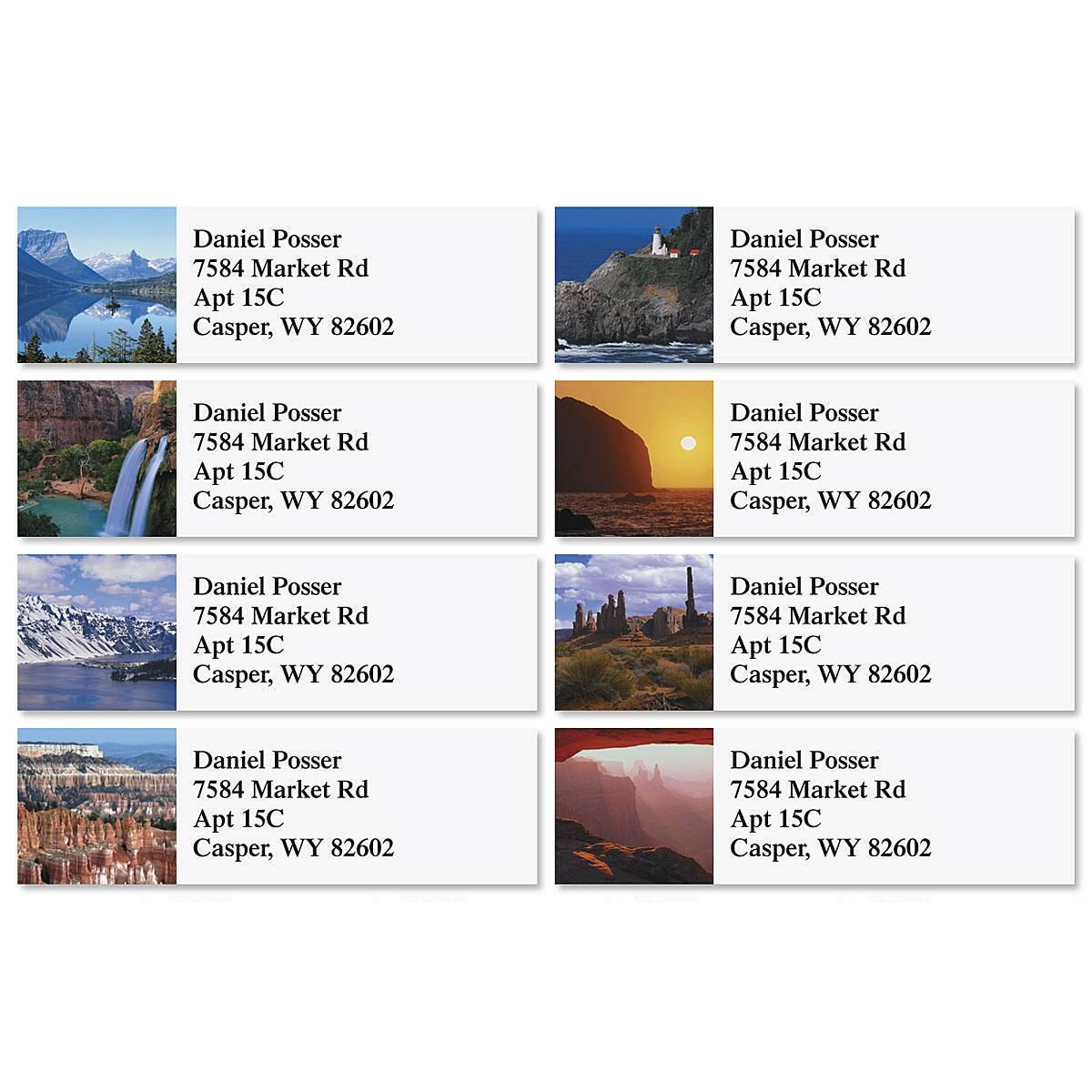 Magnificent Vistas Classic Return Address Labels  (8 Designs)