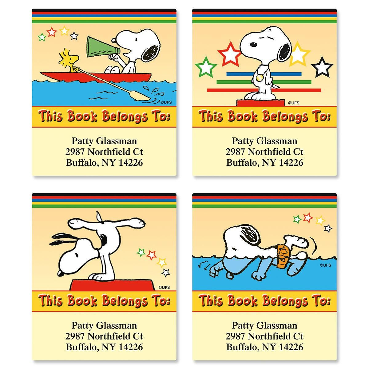 SNOOPY® Olympics Bookplates  (4 Designs)