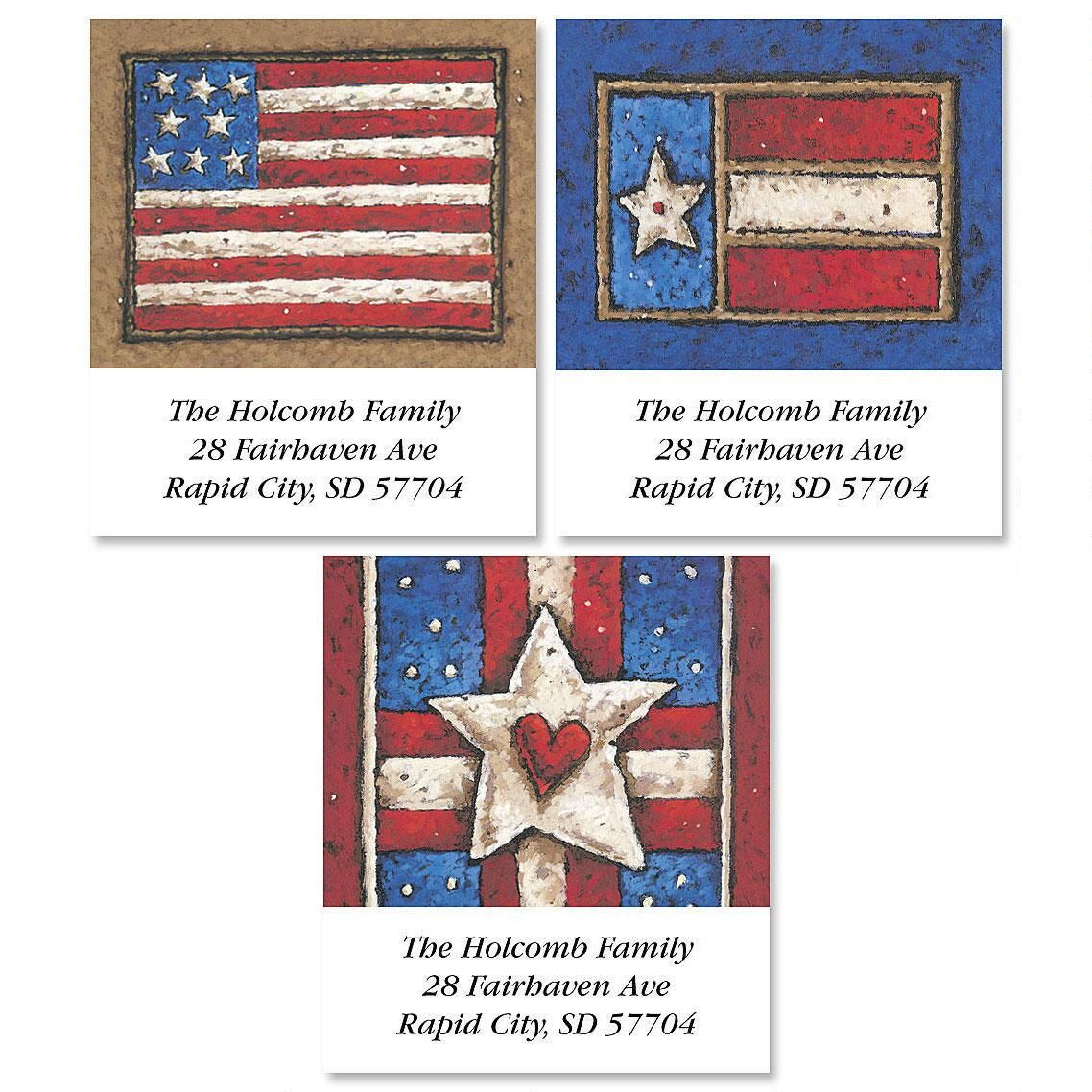 Country Flag Select Return Address Label   (3 designs)