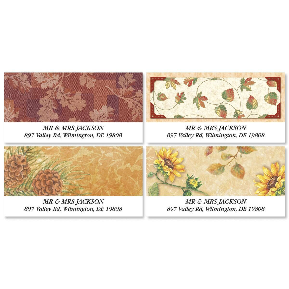 Elaborate Fall Deluxe Return Address Labels  (4 Designs)