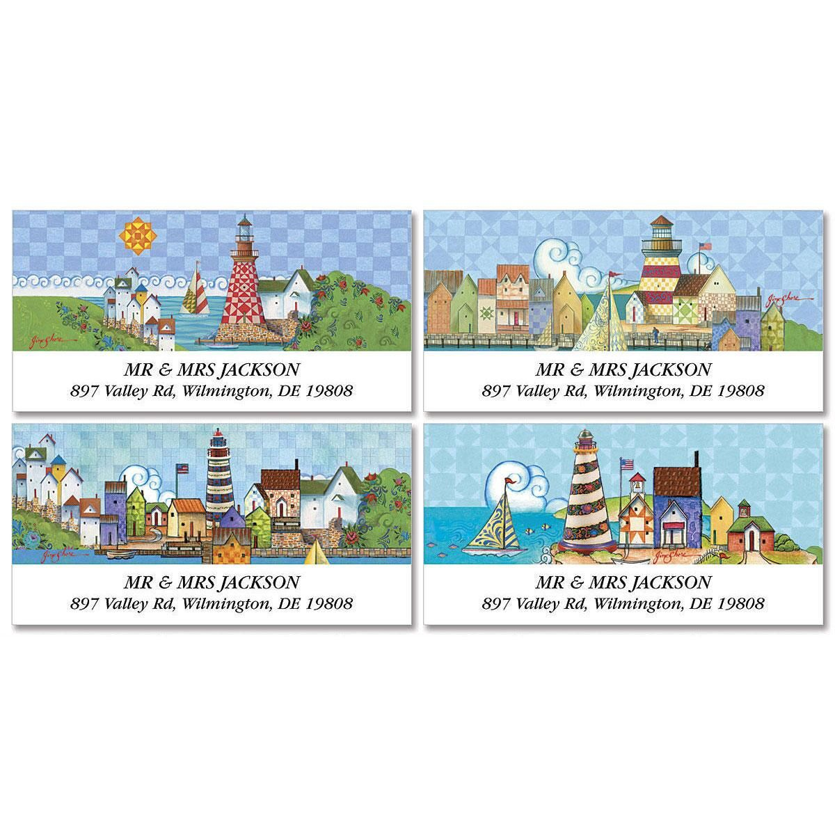 Lighthouses by Jim Shore  Deluxe Return Address Labels  (4 Designs)