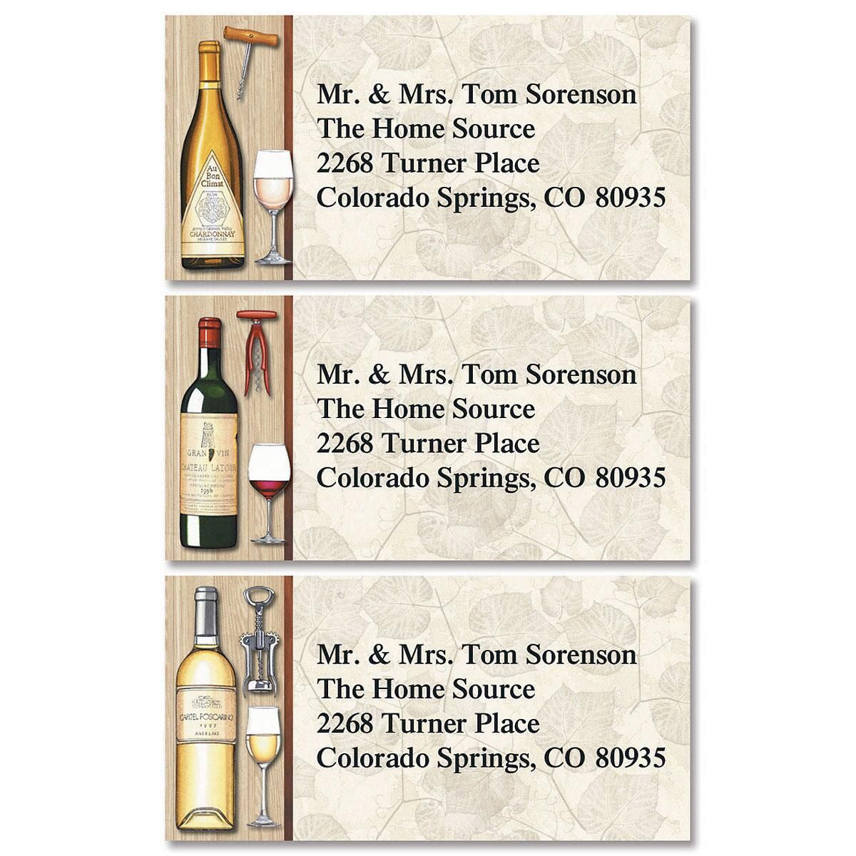 By The Glass Border Return Address Labels  (3 Designs)