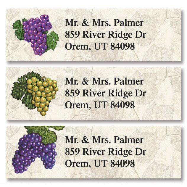 Grapes Classic Return Address Labels (3 Designs)