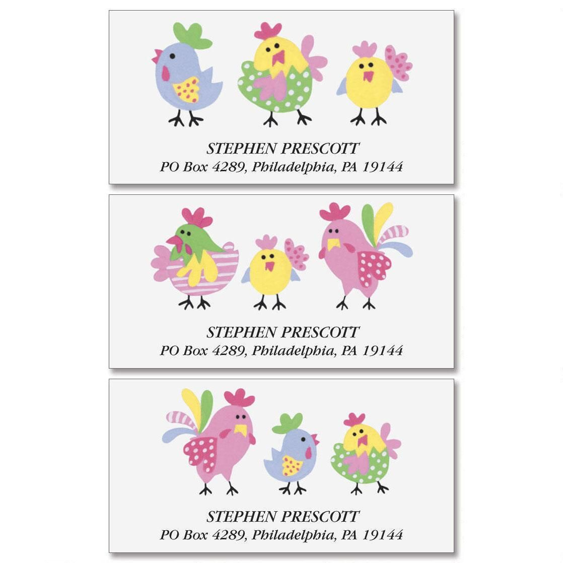 Little Chickee Deluxe Return Address Labels  (3 Designs)