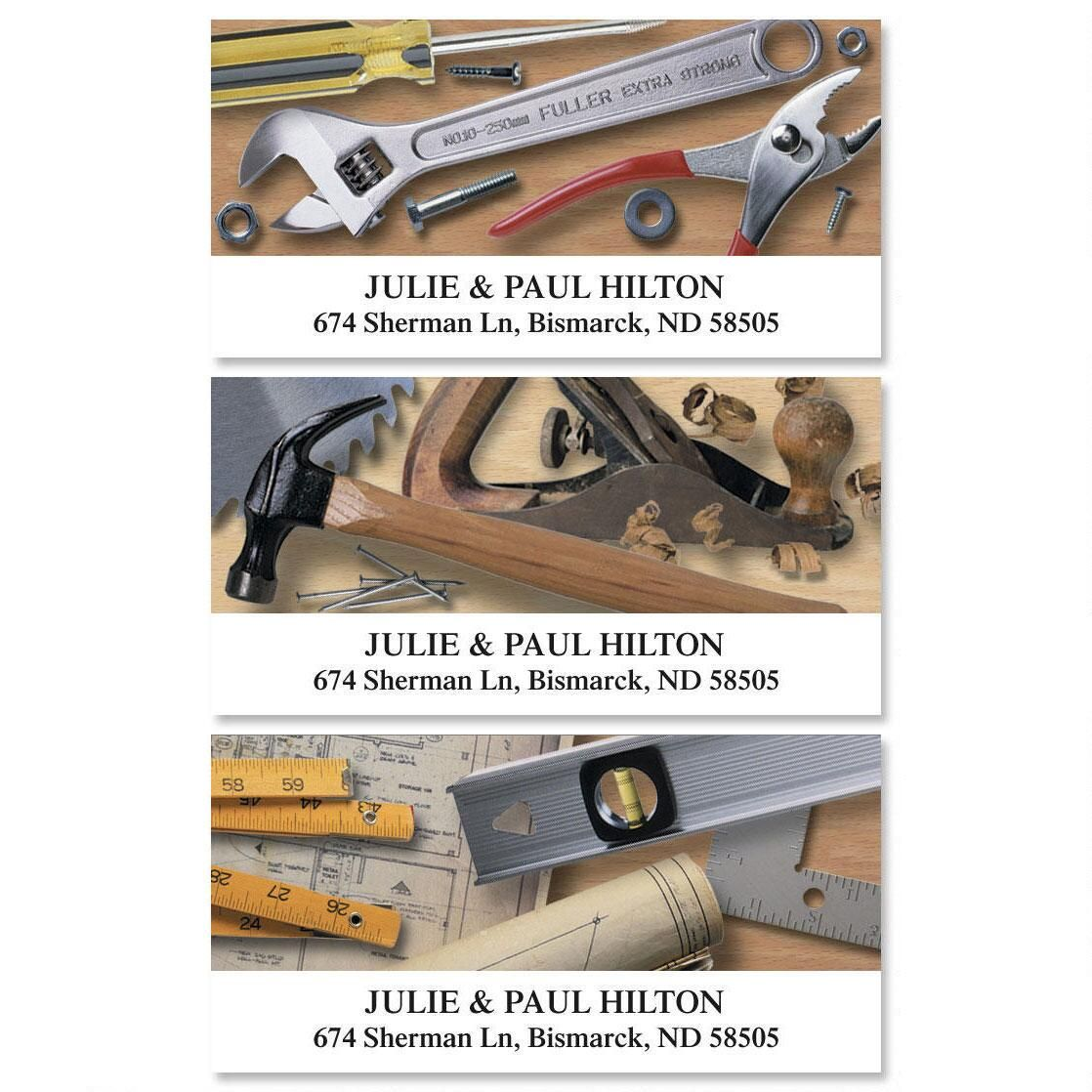 Tool Time Deluxe Return Address Labels  (3 Designs)