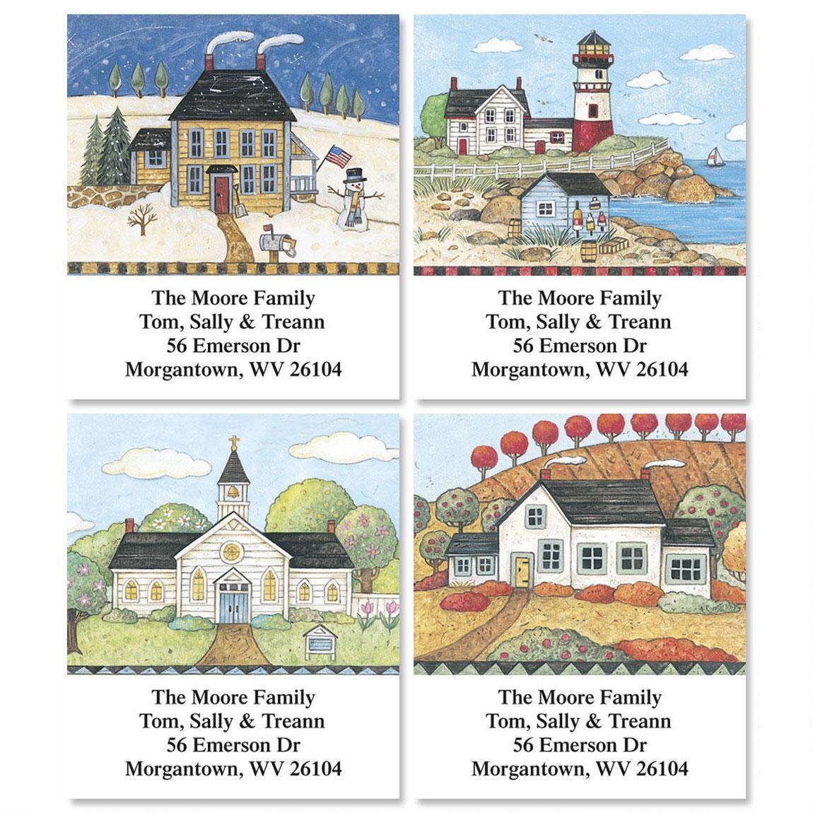 American Landscape Select Return Address Labels  (4 Designs)