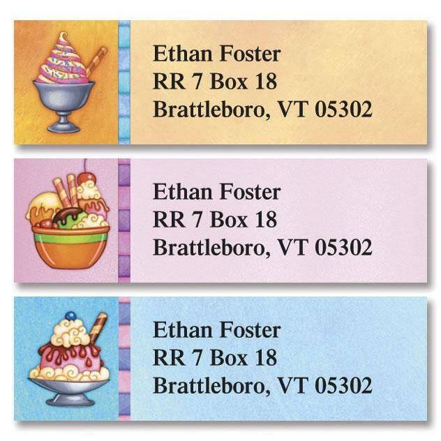 Ice Cream Classic Address Labels  (3 Designs)