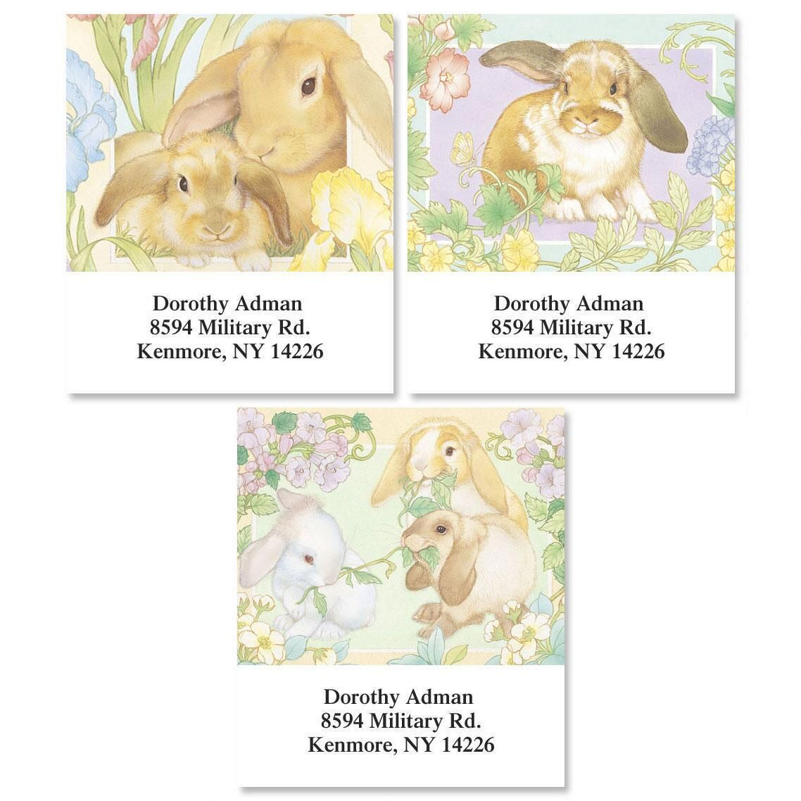 Lovely Bunnies Select Return Address Labels  (3 Designs)