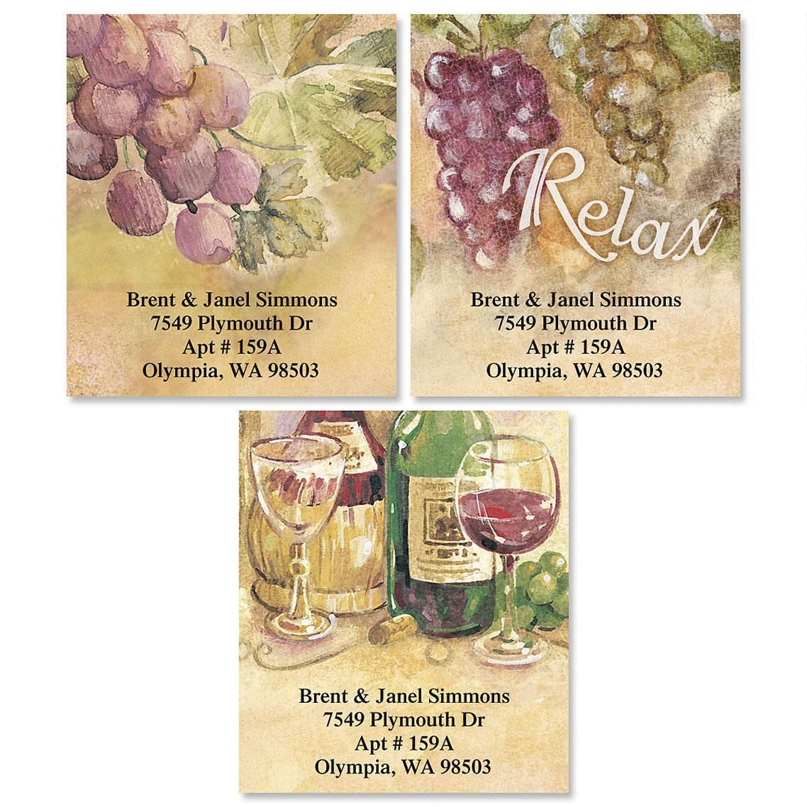 Relax Select Address Labels  (3 Designs)