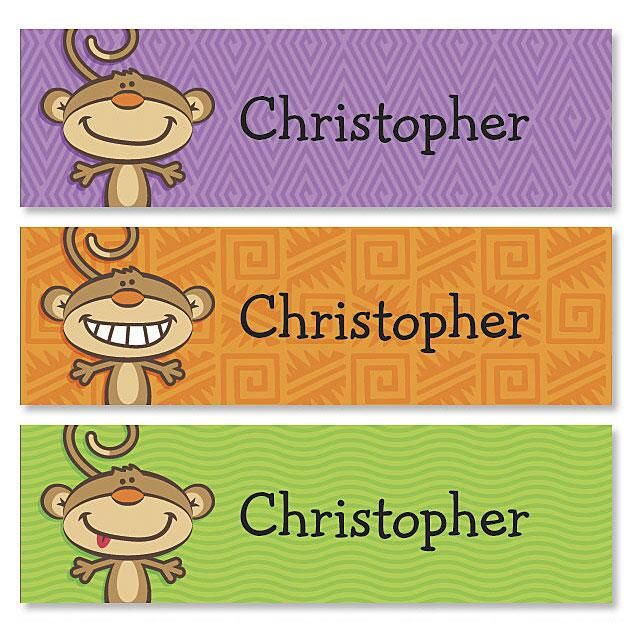 Monkey Belongs To ID Labels  (3 Designs)