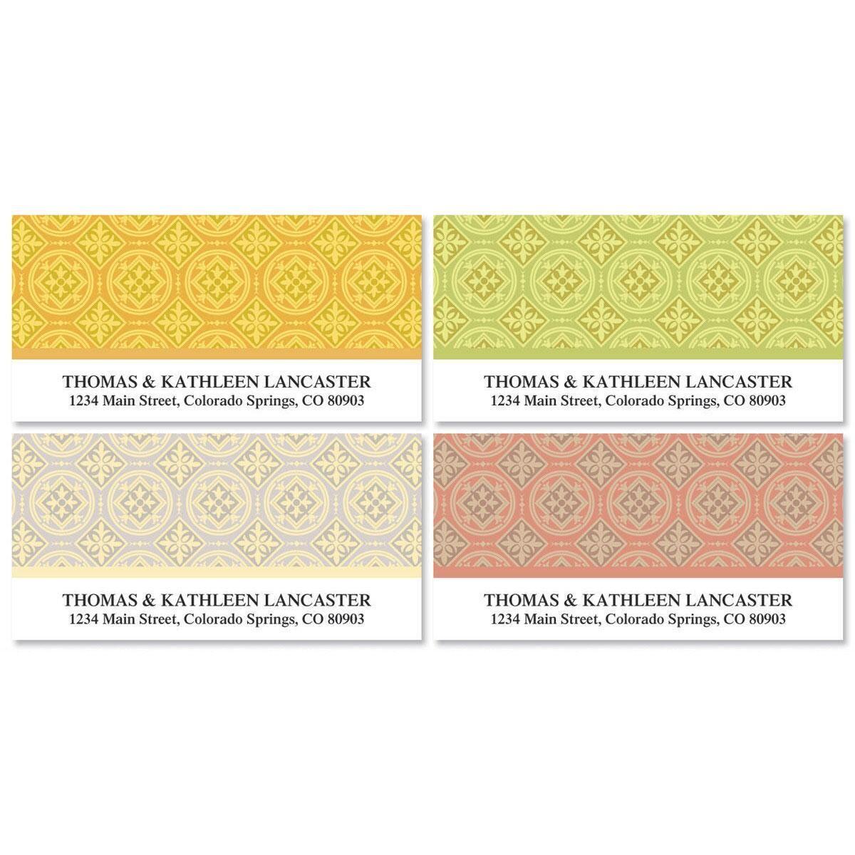 Italian Tile Deluxe Return Address Labels  (4 Designs)