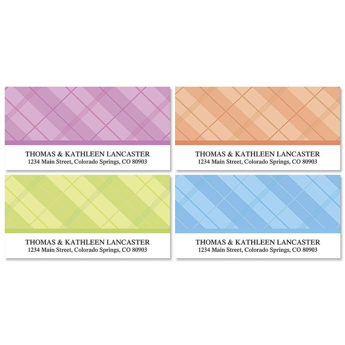 Perfectly Plaid Deluxe Address Labels  (4 Designs)