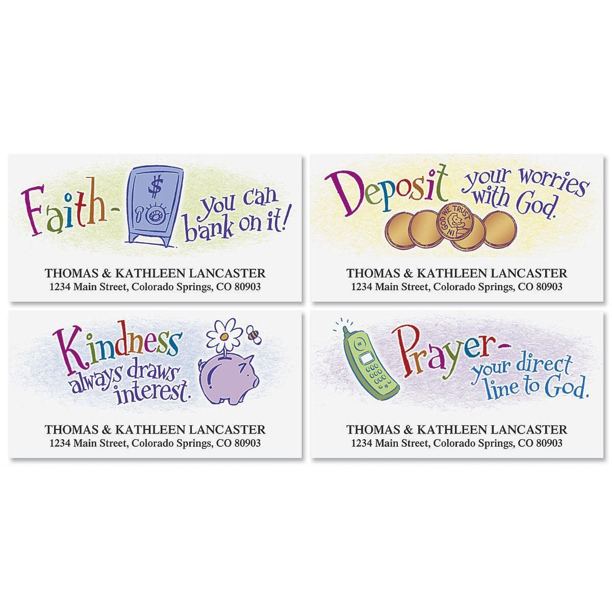Blessed Exchanges Deluxe Return Address Labels  (4 Designs)