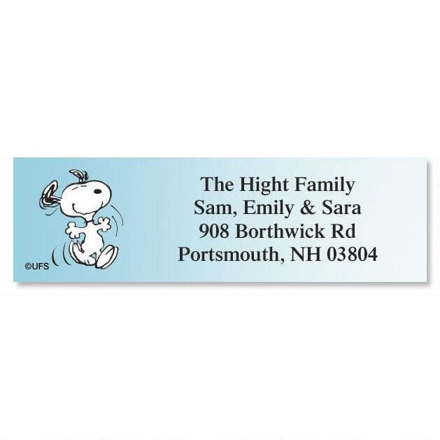 PEANUTS® Poses Classic Return Address Labels  (5 Designs)