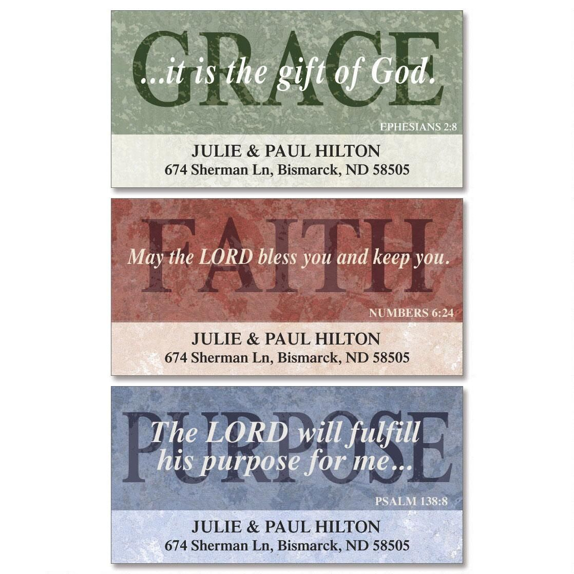 Purposeful Deluxe Return Address Labels  (3 Designs)