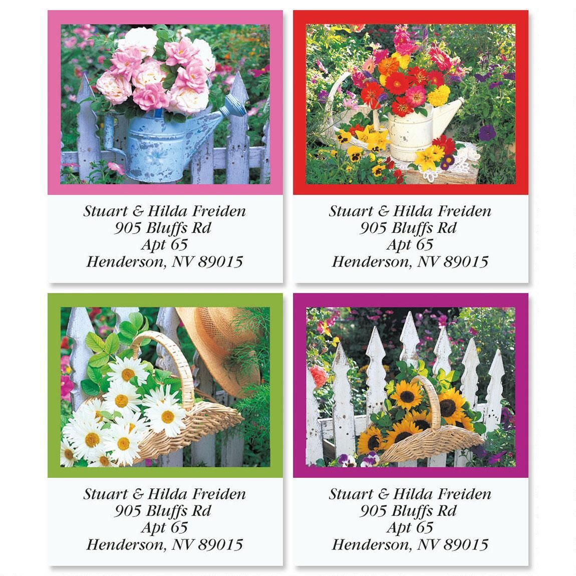 Windows in the Garden Select Address Labels  (4 Designs)