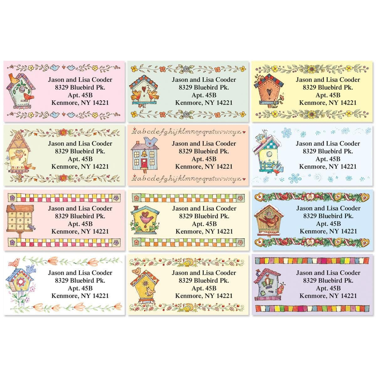 A Season at Home Border Return Address Labels  (12 Designs)