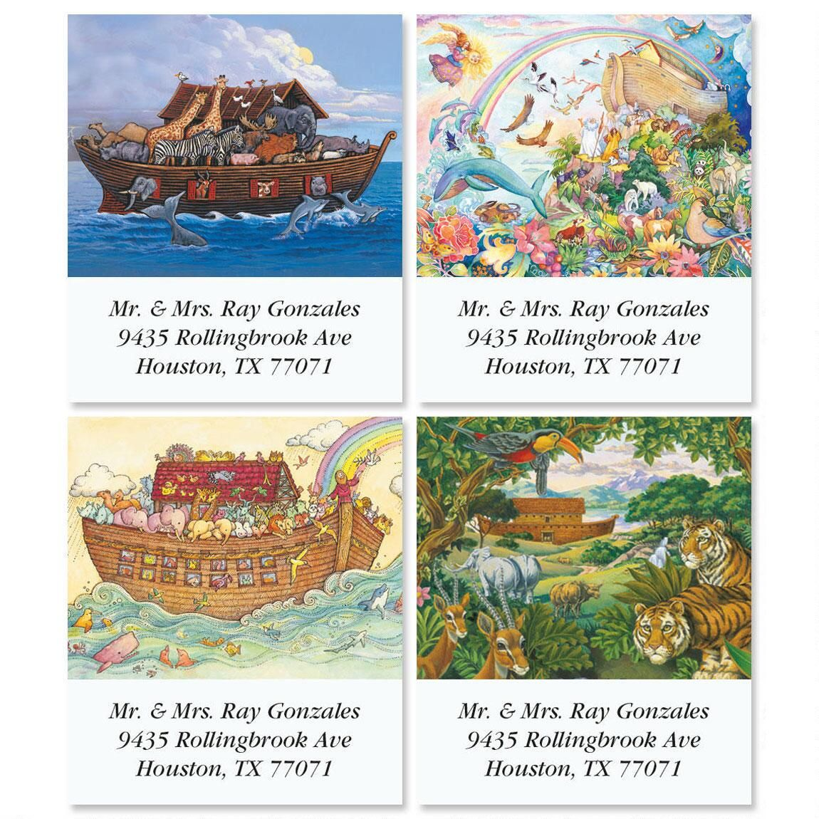 Noah's Ark Select Return Address Labels  (4 Designs)