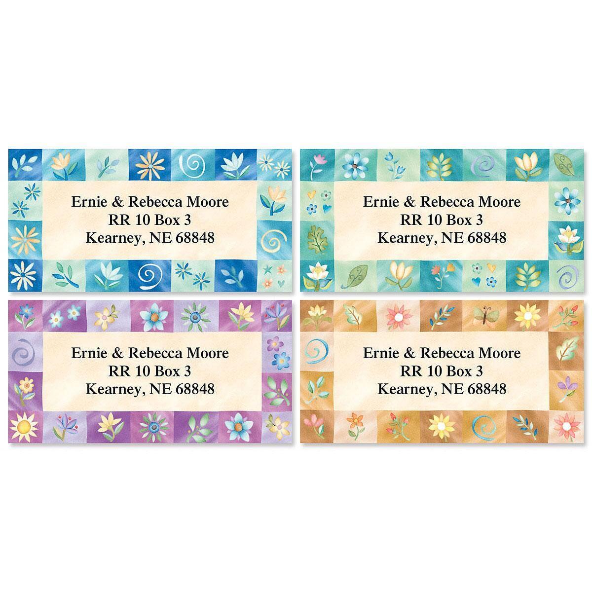 Inspirations Border Return Address Labels  (4 Designs)
