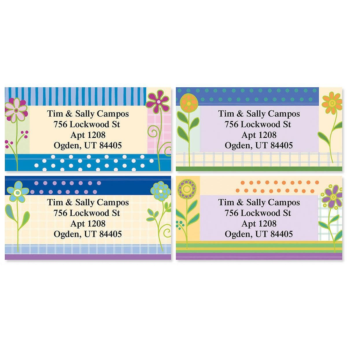 Joi De Fleur Border Address Labels  (4 Designs)