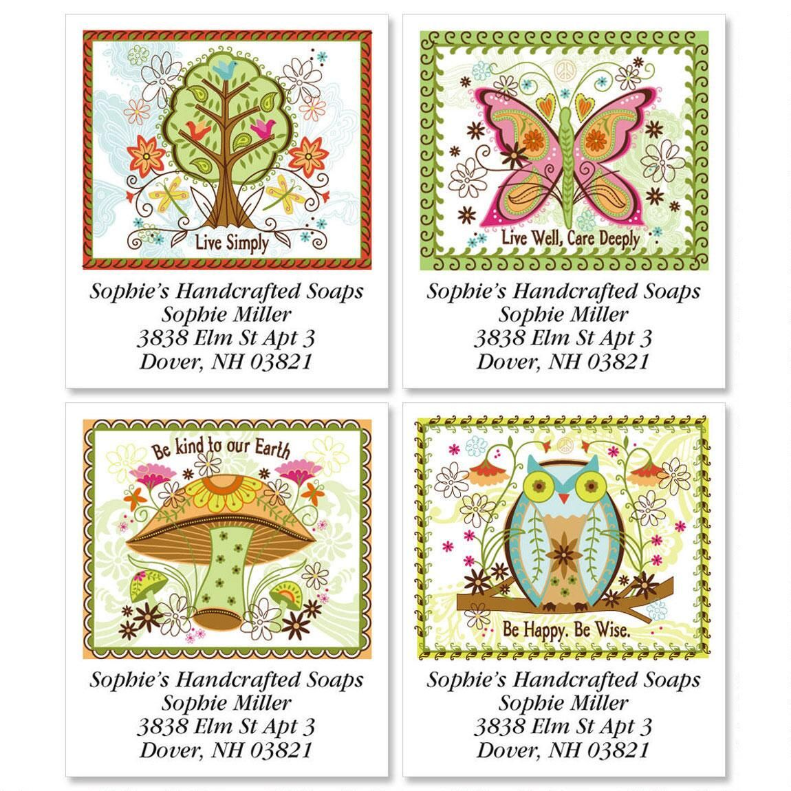Live Simply Select Address Labels  (4 Designs)