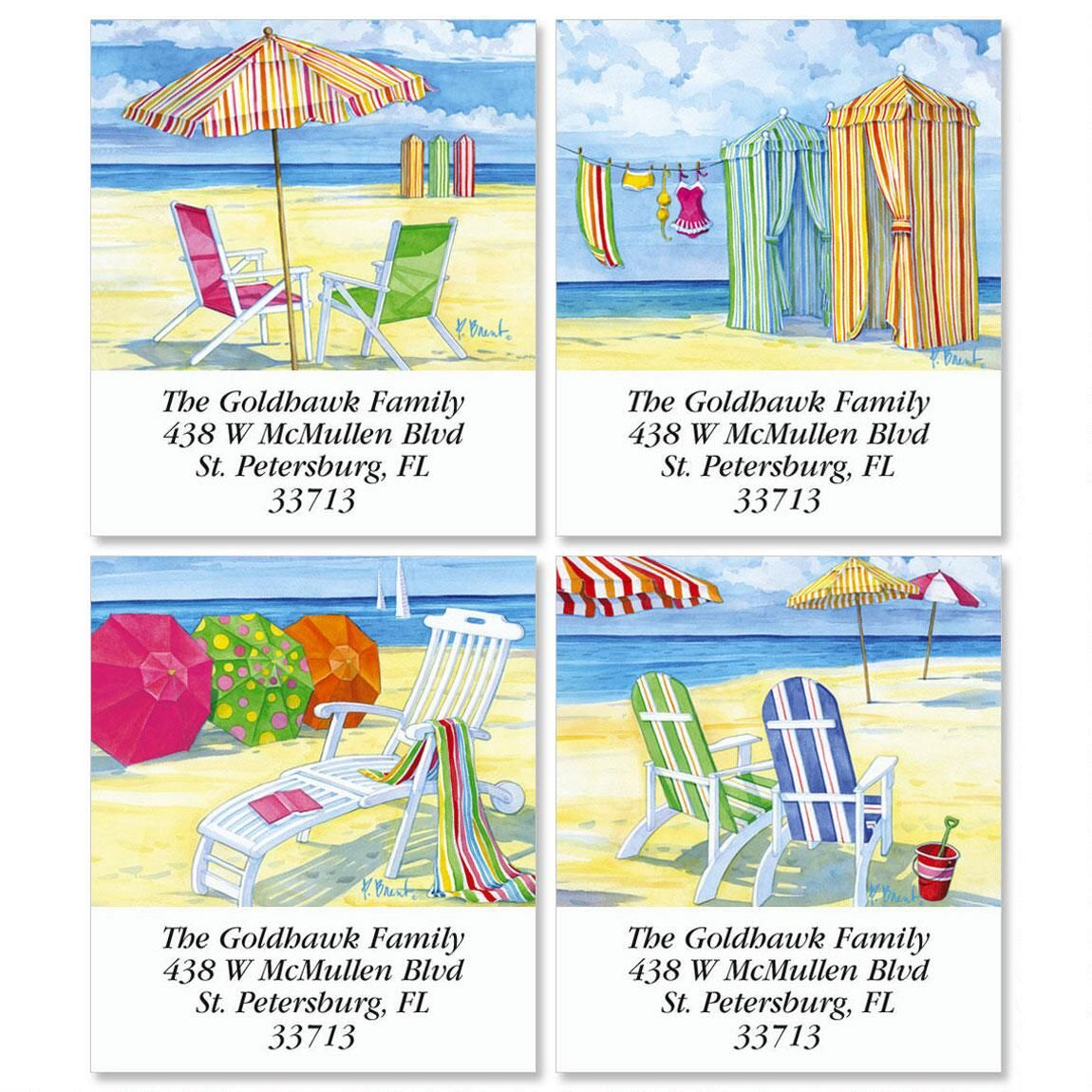 Beachside Select Return Address Labels  (4 Designs)