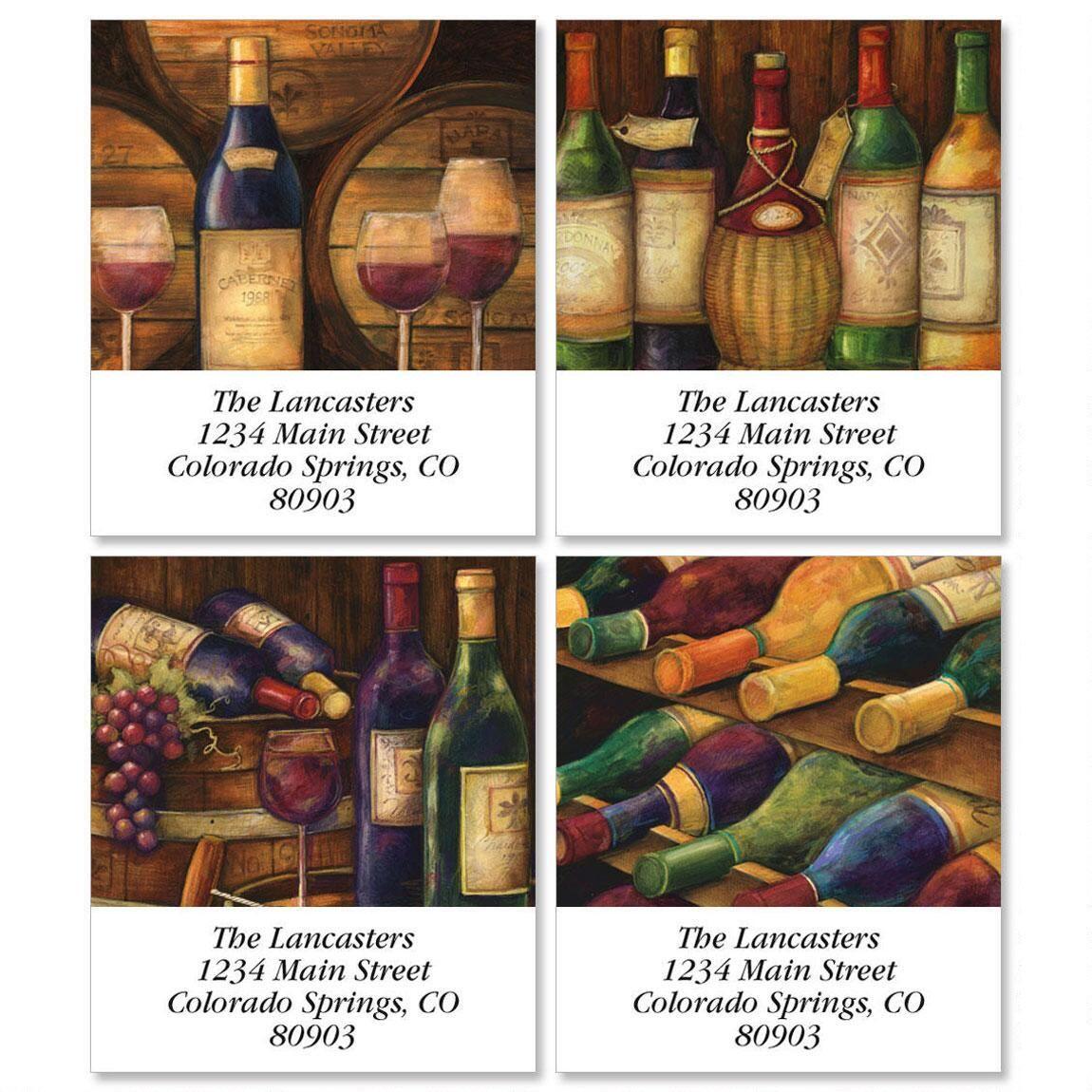 Wine Cellar Select Return Address Labels  (4 Designs)
