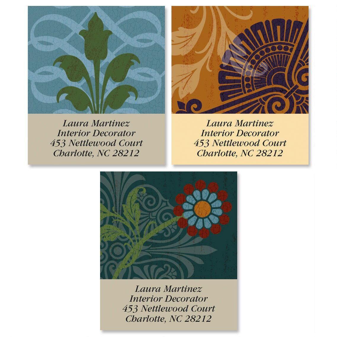 Textured Patterns Select Return Address Labels  (3 Designs)