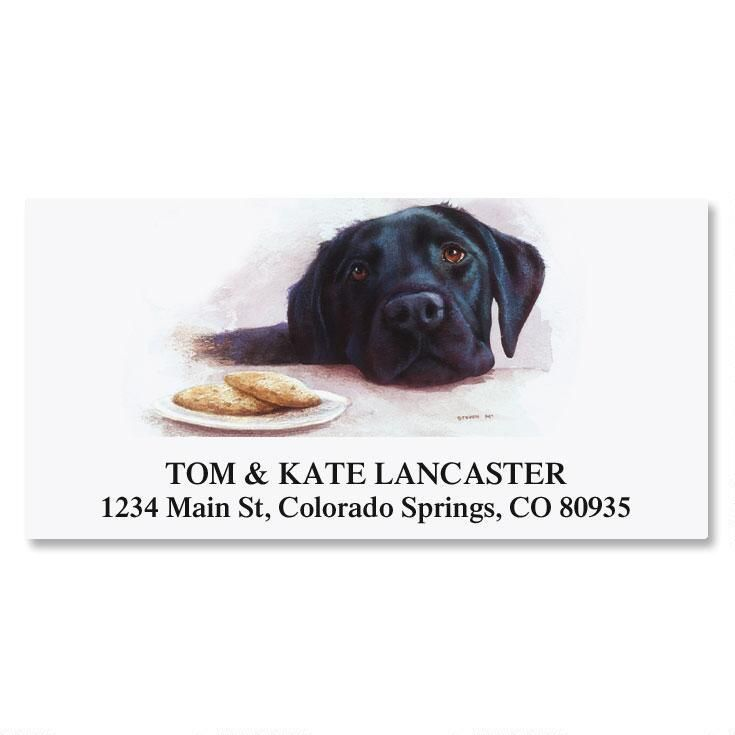 Dog Breed Deluxe Address Labels  (8 Designs)