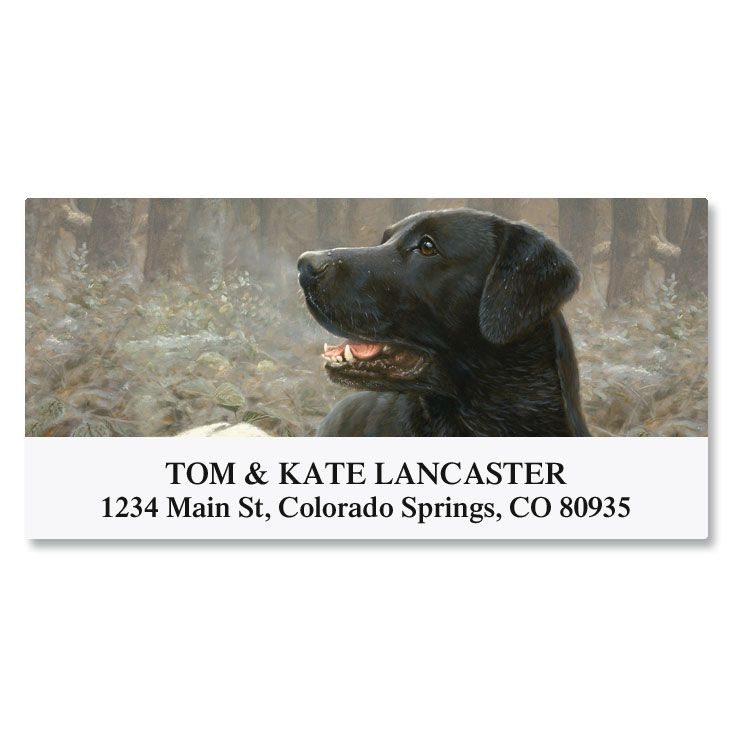 Dog Breed Deluxe Return Address Labels (8 Designs)