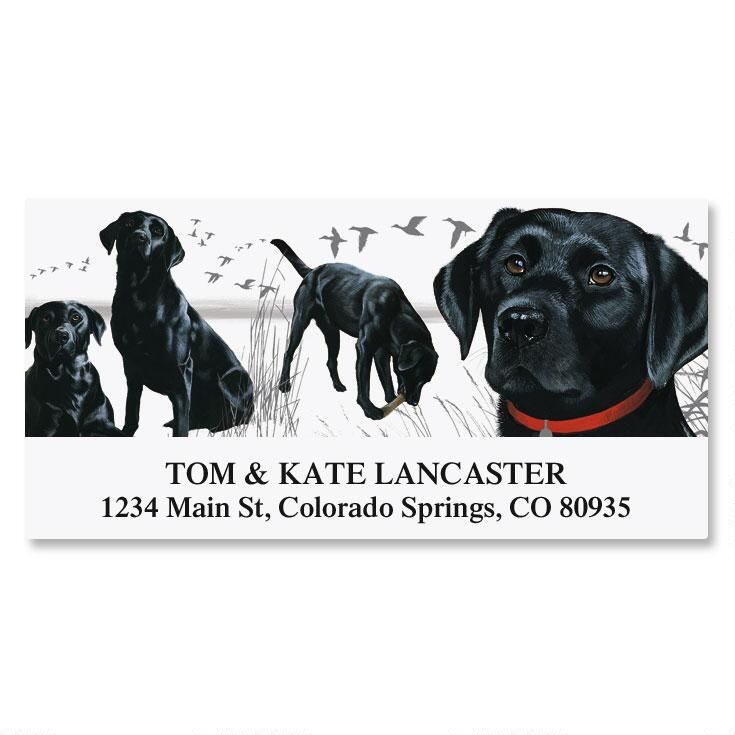 Dog Breed Deluxe Address Labels  (15 Designs)